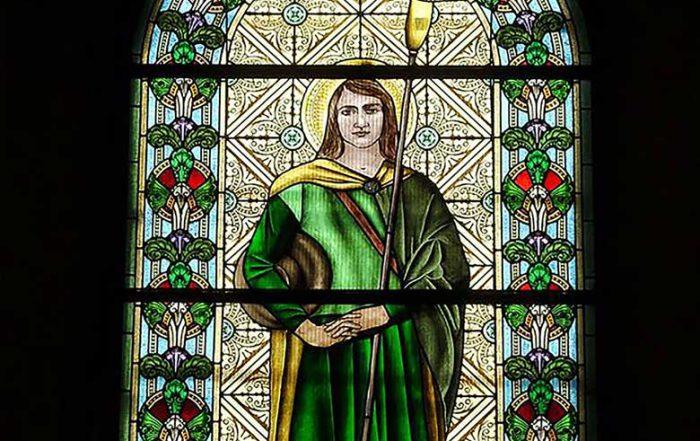 vitraž sveti vendel iz crkve u Oromu